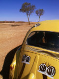 Volkswagon Beetle in Outback, Silverton, New South Wales, Australia Photographic Print by Christopher Groenhout