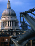 St. Paul's Cathedral and Millenium Bridge, London Photographic Print by Doug McKinlay