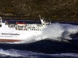 Interislander Ferry Aratere in a Heavy Swell at Mouth of Wellington Harbour, New Zealand Fotoprint av Paul Kennedy