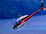 Helicopter About to Land, Queenstown, New Zealand Fotografie-Druck von Christopher Groenhout
