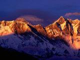 Mt. Everest and Lhotse, Sagarmatha, Nepal Fotografisk tryk af Christer Fredriksson