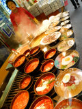 Variety of Dishes Available at Market, Namdaemun Market, Seoul, South Korea Fotografisk tryk af Anthony Plummer