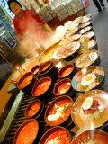 Variety of Dishes Available at Market, Namdaemun Market, Seoul, South Korea Fotografie-Druck von Anthony Plummer