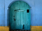 17th Century Traditional Painted House, San Cristobel de las Casas, Chiapas, Mexico Photographic Print by Jeffrey Becom