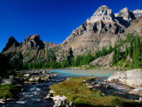 Mt. Huber on Right and Wiwaxy Peaks in Lake O'Hara Area, British Columbia, Canada Photographic Print by Witold Skrypczak