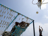 Kids Playing Basketball, Male, Kaafu, Maldives Photographic Print by Felix Hug