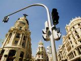 Edificio Metropolis, Madrid, Comunidad de Madrid, Spain Photographic Print by Krzysztof Dydynski