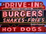 Drive-In Neon Sign, San Francisco, California Fotografisk tryk af Roberto Gerometta