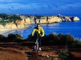 Biking Above Algarve Coast Near Lagos, Azores, Portugal Photographic Print by Philip & Karen Smith