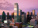 Downtown at Dusk from Reunion Tower, Dallas, Texas Photographic Print by Witold Skrypczak