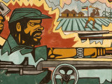 Detail of Mural Near Airport Depicting Civil War, Maputo, Mozambique Fotografisk tryk af Ariadne Van Zandbergen