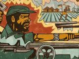 Detail of Mural Near Airport Depicting Civil War, Maputo, Mozambique Fotografie-Druck von Ariadne Van Zandbergen