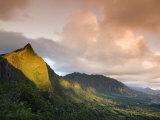 Nu'uanu Pali at Sunrise, Oahu, Hawaii Fotografisk tryk af John Elk III