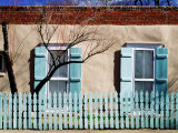 House Facade on Canyon Road, Santa Fe, New Mexico Fotoprint van Witold Skrypczak