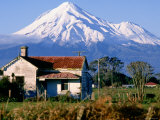 Snow-Capped Mount Taranaki, New Plymouth, New Zealand Photographic Print by Oliver Strewe