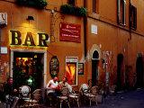 Outside Bar at Trastevere, Rome, Lazio, Italy Fotografisk tryk af Izzet Keribar
