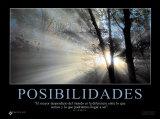 Posibilidades - Possibilities Kunstdruck