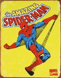 O Homem-Aranha Placa de lata