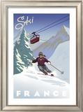 Ski France Print by Kem Mcnair