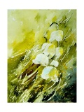 Lilies of the Valley Watercolor Poster von Pol Ledent
