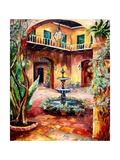 Evening in a Courtyard Print by Diane Millsap