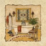 Art Deco Bath II Print by Charlene Winter Olson