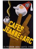 Cafes Jeanne d'Arc Lámina giclée
