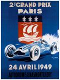 Grand Prix de Paris, 24 Avril 1949 Giclee Print by Geo Ham