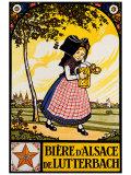 Bieres d'Alsace Reproduction procédé giclée par  Hansi