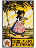 Bieres d'Alsace Giclee Print by  Hansi