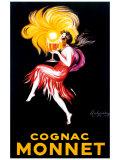 Cognac Monnet Reproduction procédé giclée par Leonetto Cappiello
