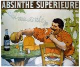 Absinthe Superieur Reproduction procédé giclée par Victor Leydet
