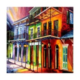 Evening in the Vieux Carre Poster by Diane Millsap