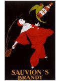 Affiche publicitaire Sauvion'S Brandy Reproduction procédé giclée