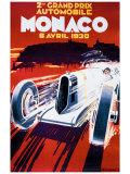 Grand Prix de Monaco, 1930 Giclée-tryk af Robert Falcucci