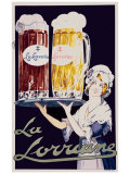 Biere La Lorraine Giclée-tryk