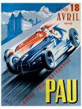 Grand Prix Automobile de Pau, 1949 Giclee-trykk av Andre Bermond