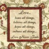 Ord å leve etter: Kjærlighet Plakat av Debbie DeWitt