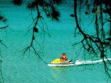 Jet Ski on the Sea at Konnos Beach, Protaras, Cypress Photographic Print by Petros Karadjias