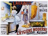 Lavabos Modernes Lámina giclée por A. Toubras