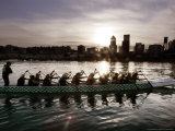 Special Editions Summer Dragon Boats, Portland, Oregon Photographic Print by Don Ryan