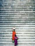 India International Women's Day, Mandav, India Lámina fotográfica