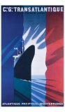 Cie Gle Transatlantique Giclée-Druck von Paul Colin