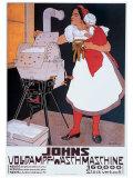 Johns Wash Machine Giclee Print by Adolf Karpellus