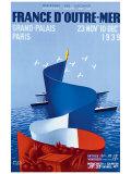 France d'Outre-Mer Impressão giclée por Paul Colin