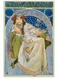 Princezna Hyacinta Lámina giclée por Alphonse Mucha