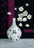 Jarrones con Flores Blancas I Poster por  Cano