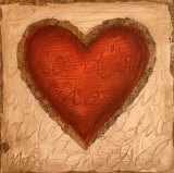 Poetic Heart Print by Roberta Ricchini