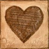 Musical Heart Prints by Roberta Ricchini