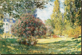 The Parc Monceau, Paris, c.1876 Stretched Canvas Print by Claude Monet